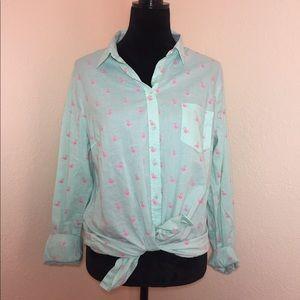 Flamingo button down shirt